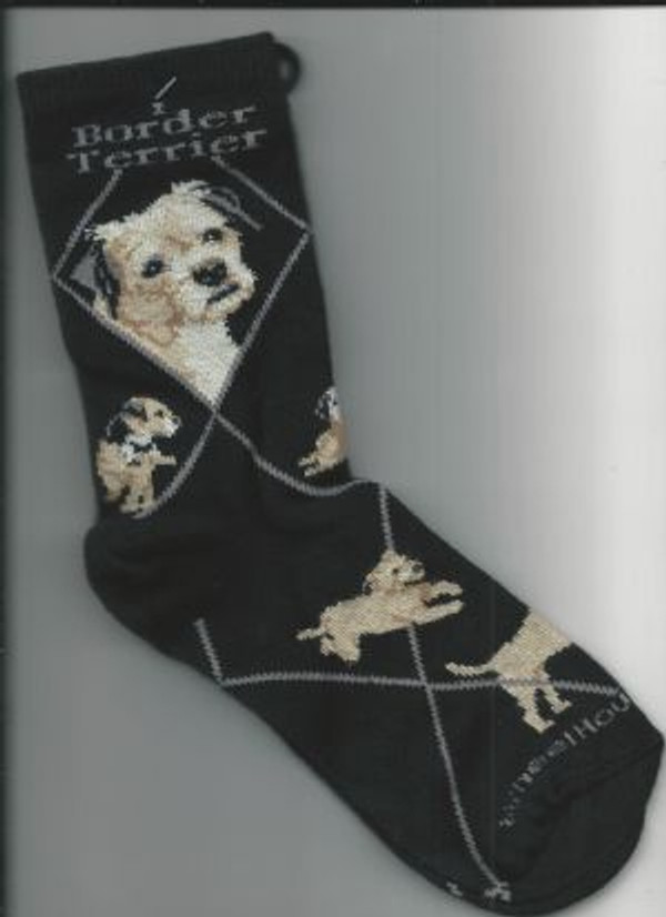 Border Terrier Socks - Black