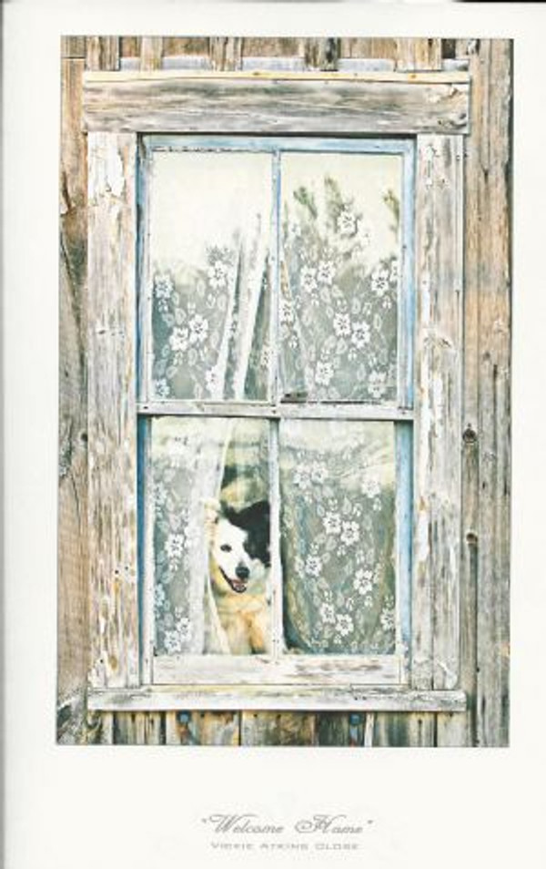 """""""Welcome Home"""" Note Card by Vickie Atkins Close"""