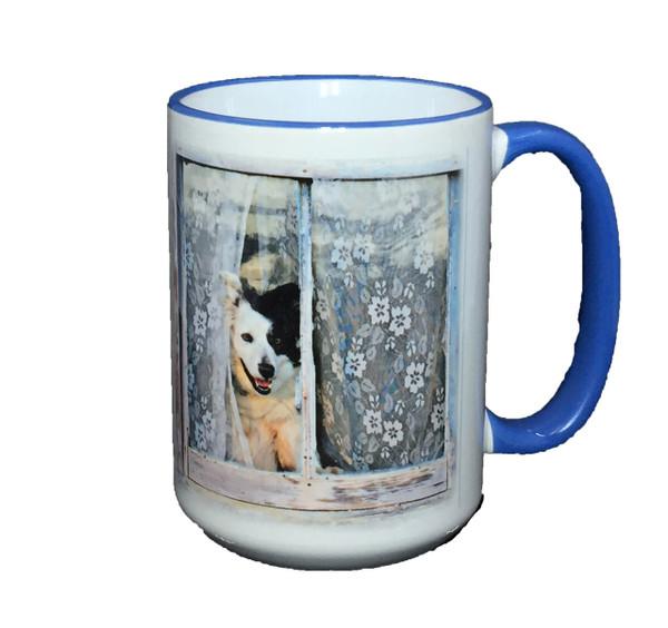 """""""Welcome Home"""" Mug by Vickie Atkins Close"""