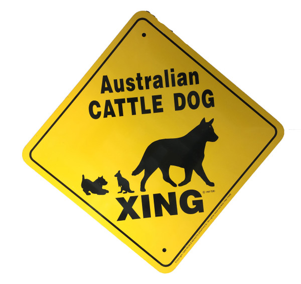 Australian Cattle Dog Xing Sign