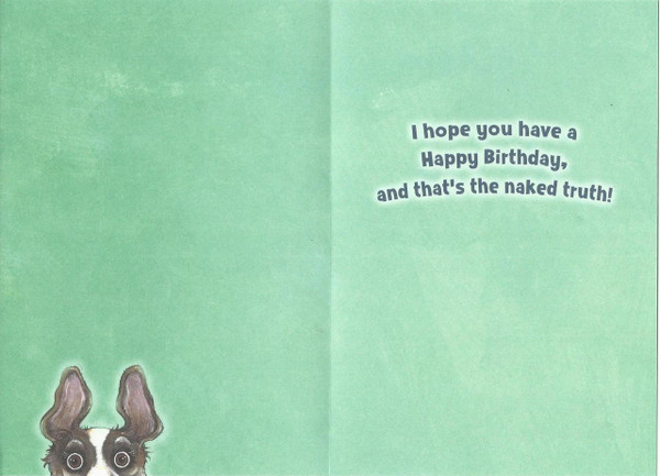 The Naked Truth - Birthday Card