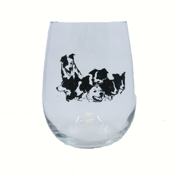 Single Border Collie Glass