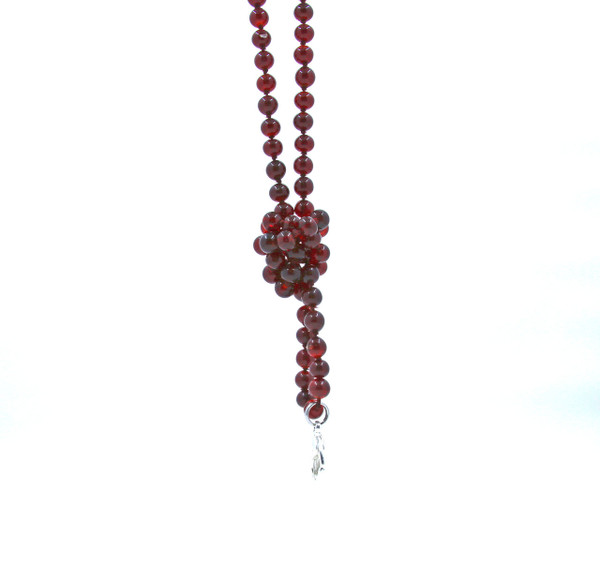 Burgandy Glass Beaded Lanyard