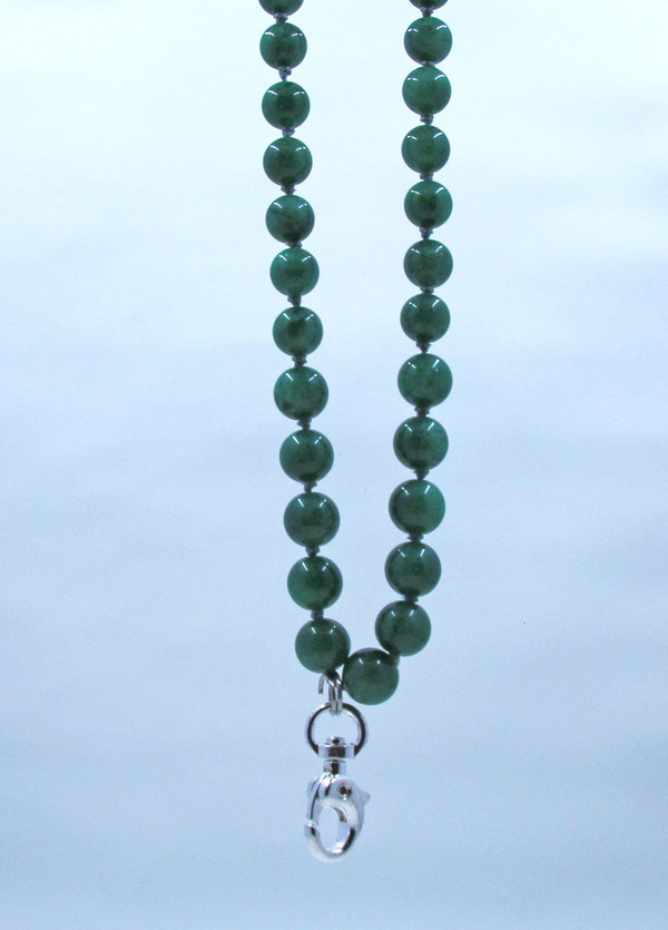 Aventurine Beaded Lanyard