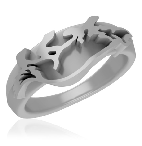 Border Collie Ring - Sterling Silver