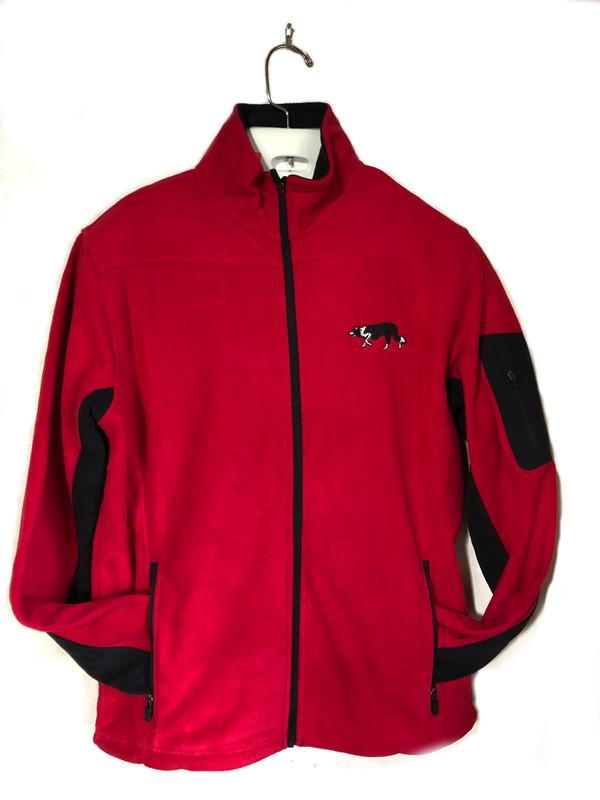 Red Fleece Border Collie Jacket