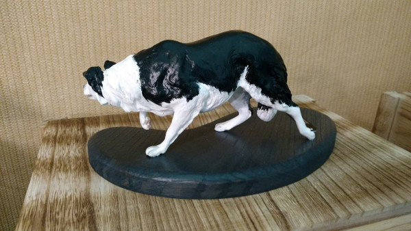 Custom Painted Border Collie
