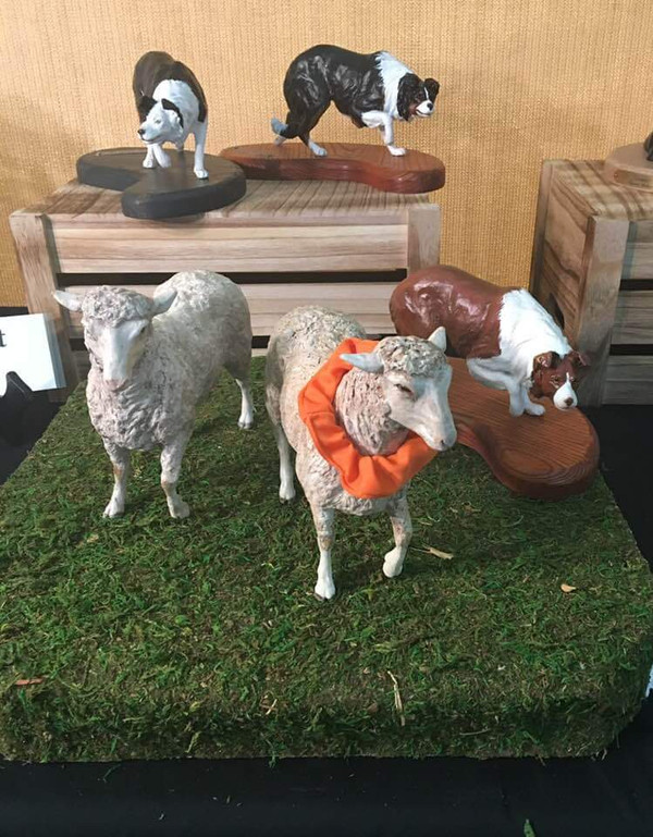 Custom Painted Sheep