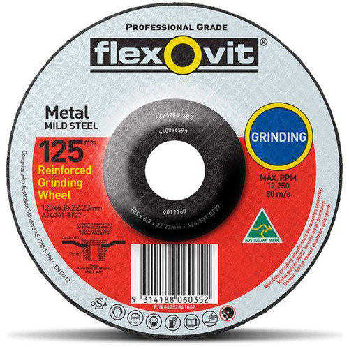 FLEXOVIT GRINDING 125X22 A24