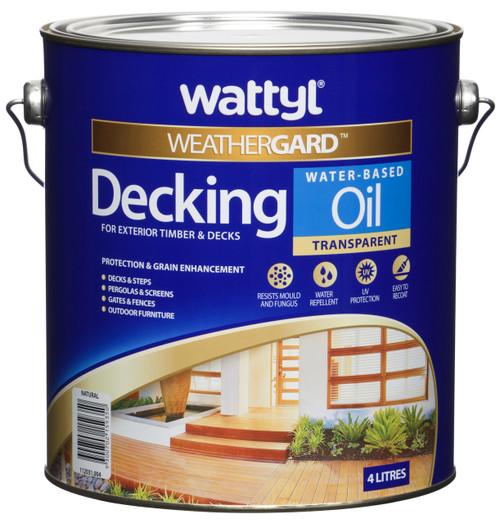 Wattyl Weathergard Wb Decking Oil Natural