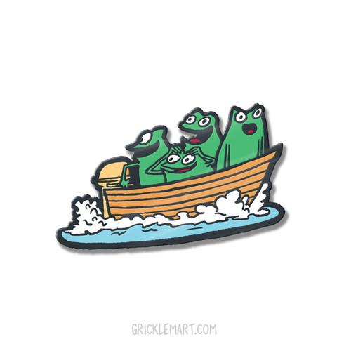 Frog Boat Pin