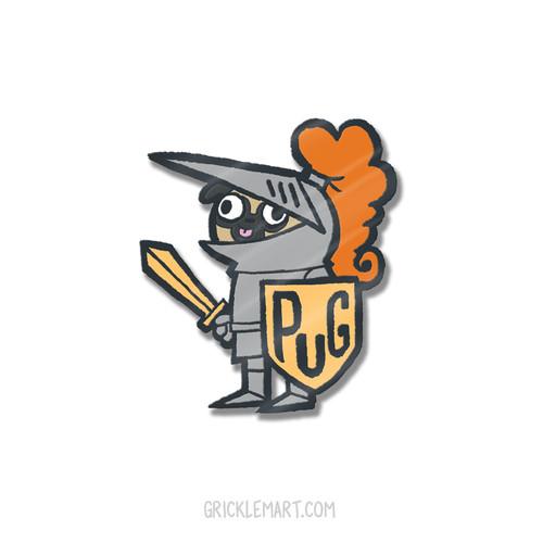 Sir Pugsalot Pin
