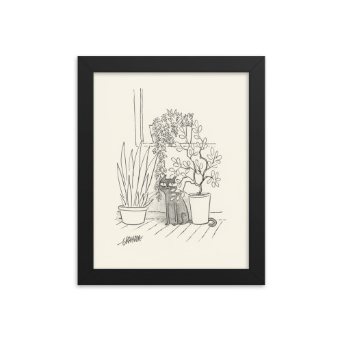 Jungle Kitty Print (Framed)