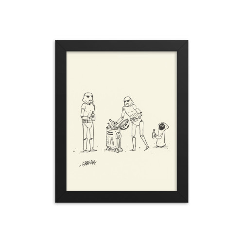 Party Trooper Print (Framed)