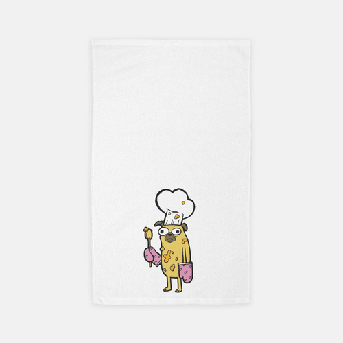 Pug Chef Towel