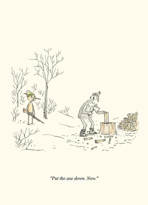 Armed Pinocchio Print