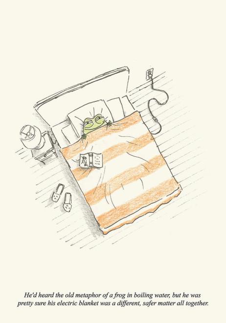 Frog Blanket Print