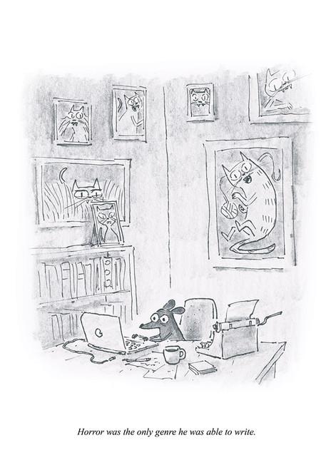 Mouse Horror Print
