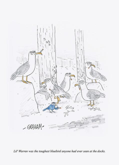 Toughest Bluebird Print