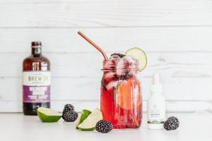 Blackberry Lime Kombucha CBD Elixir
