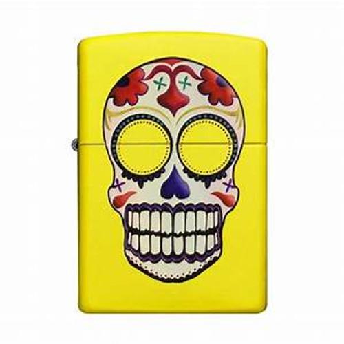 Personalised Lemon Skull Genuine Zippo Lighter