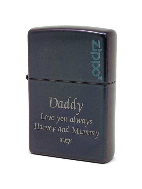 Personalised Iridescent Genuine Zippo Lighter