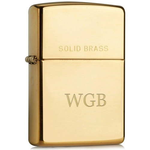 Personalised 254 Polished Brass Genuine Zippo Lighter