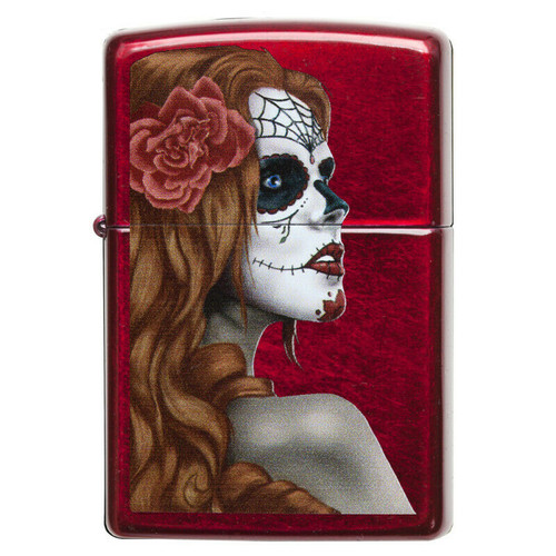Personalised Day Of The Dead Genuine Zippo Lighter