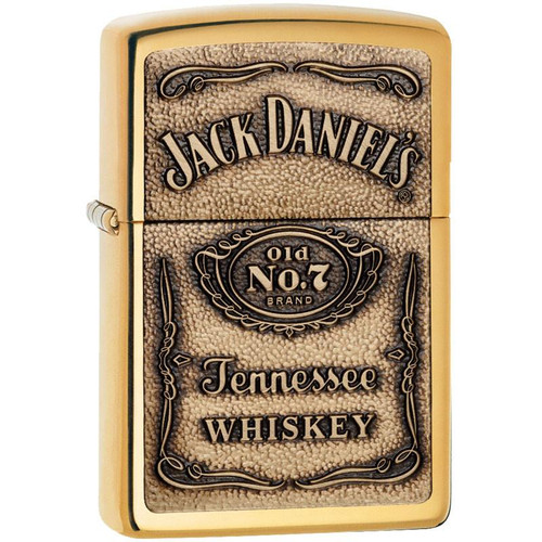 Personalised Antique Brass Jack Daniels Genuine Zippo Lighter