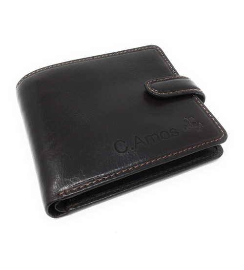 Personalised RFID Luxury Dark Brown Massa Leather Wallet