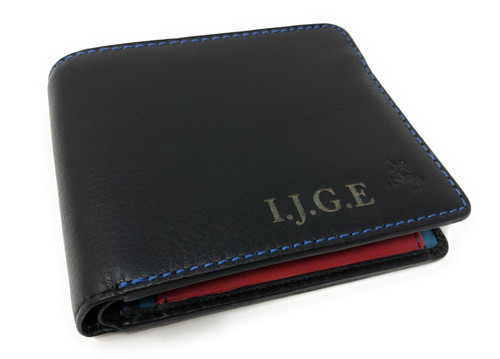 Personalised Luxury RFID Spectrum Colourful Tap N'Go Leather Wallet