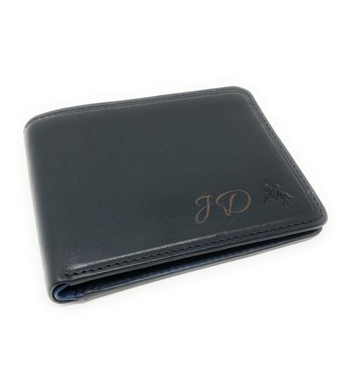 Personalised RFID Tap N'Go Black Leather Wallet