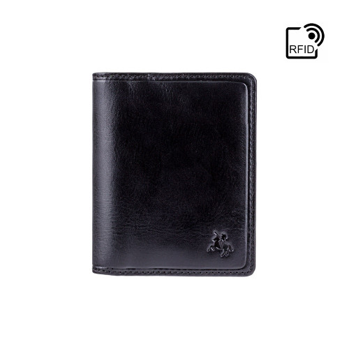 Personalised  RFID  Black Card Wallet - Engraved with Name or Initials - Unique Men's Gift, Fathers Day, Birthday, Custom Engraved