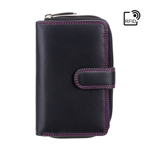 Personalised RFID Luxury Black & Berry Cash & Coin Purse (Best Seller)