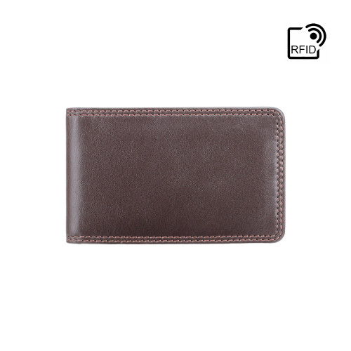 Personalised RFID Nelson Brown Card Wallet - Engraved with Name or Initials - Unique Men's Gift, Fathers Day, Birthday, Custom Engraved