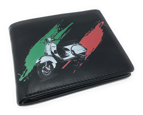 Personalised Sandringham Nappa Scooter Vespa Design Leather Wallet