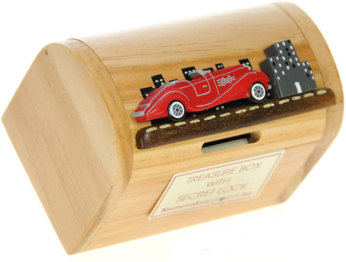 Personalised Childrens Wooden Money Box - Mercedes Car Design