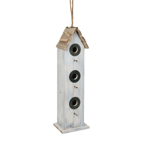 Personalised Tall Hanging Rustic Bird House