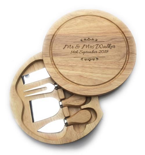 Personalised Cheese board & Hidden Servers Gift Set - Best Seller