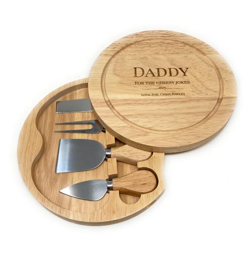 Personalised Cheese board & Hidden Servers Gift Set