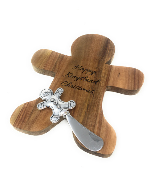 Personalised Gingerbread Man Cheese Board Gift Set