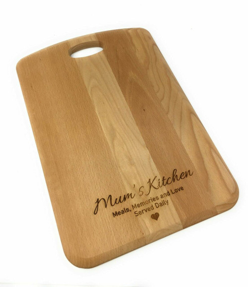 Personalised Beech Handled Chopping  Board - Medium