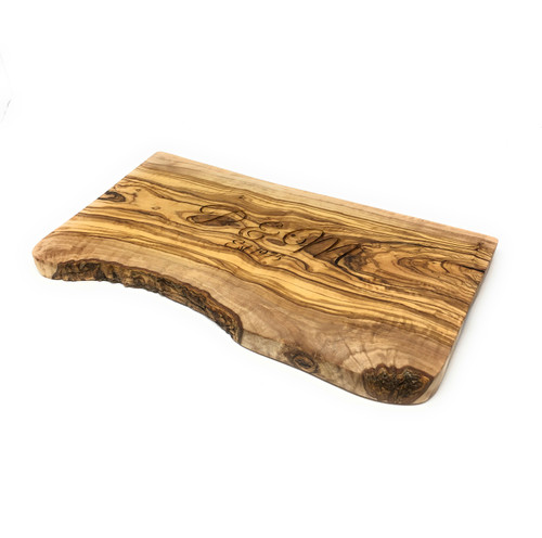 Personalised Olive Wood Rustic Chopping  Board  - 34cm