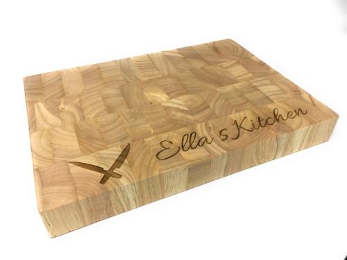 Personalised Heveawood Chopping Board - Knives Design (BestSeller)