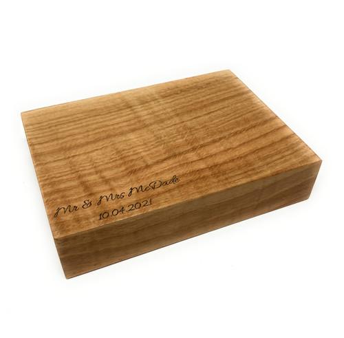 Personalised Small Scottish Oak Chopping Board - 4cm Thick !