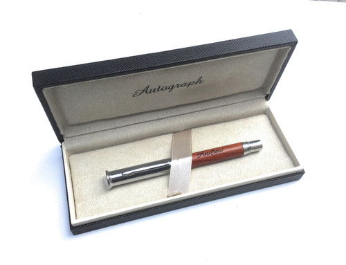 Personalised Autograph Rosewood Roller Ball Pen (Best Seller)