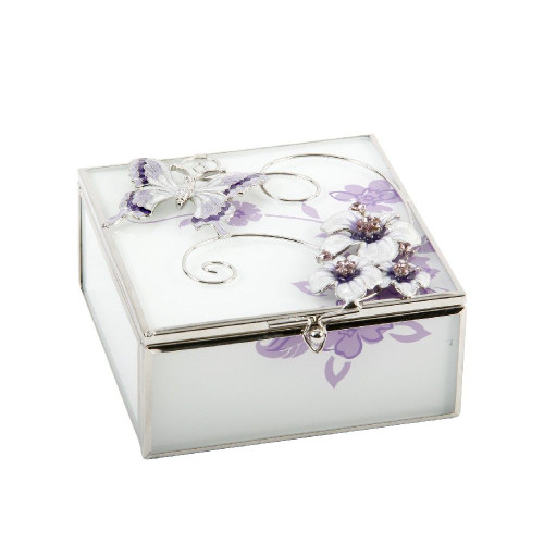Personalised Glass & Wire Butterfly Trinket Box (Best Seller)
