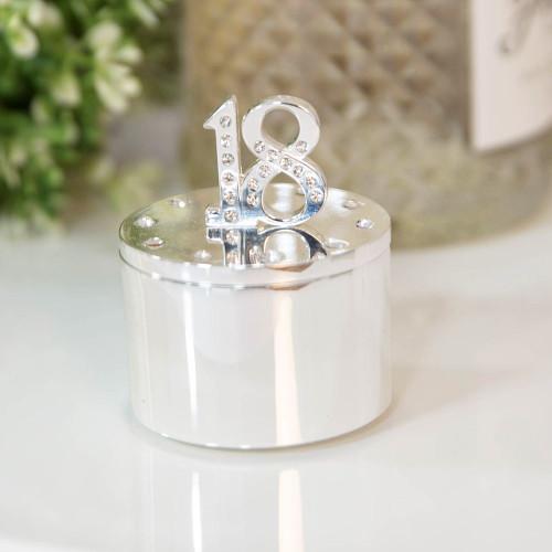 Personalised 18th Birthday Milestone Jewellery/Trinket box