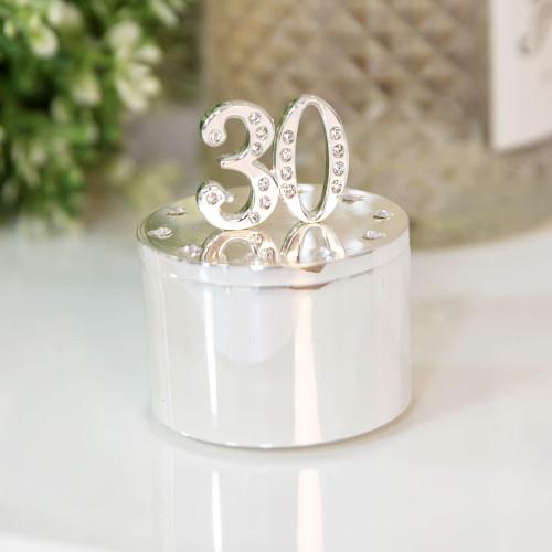 Personalised 30th Birthday Milestone Jewellery/Trinket box