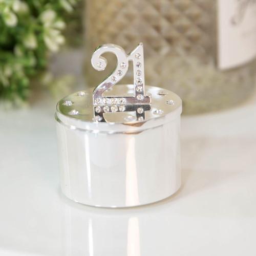 Personalised 21st Birthday Milestone Jewellery/Trinket box